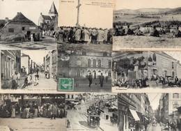 JOLI LOT DE 50 C.P.A. FRANCAISES - TOUTES ANIMEES. LES CARTES EN PHOTOS( EXTRAIT ) SONT BIEN DANS CE LOT - Postcards