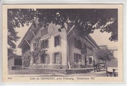 CAFE DE GRANDFEY , PRES FRIBOURG - ANIMATION ET CHAR - N/C - FR Fribourg