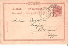 EP. Allemand ELBERFELD Du 3/4/1898 Vers BORNHEM - VANVELSEM - BRASSEUR à Bornhem. - Autres
