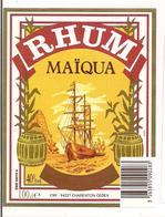 Etiquette Rhum Maïqua - Traditionnel Des Iles Françaises - Thème Bateau  - - Rhum