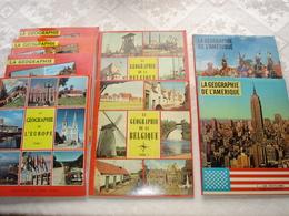 8 Albums  Lombard Collection Timbres TinTin Geographie De L'Europe, Belgique Amerique  Complet - Albums & Catalogues