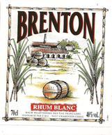 Etiquette Rhum Brenton - Blanc - Traditionnel Des Iles Françaises - - Rhum