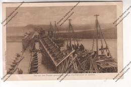 CPA Militaria Ww1 : Die Von Den Russen Gesprengte Riesige Warthebrücke Bei SJERADZ (Pont Polonais Détruit Par Russes) - Guerra 1914-18
