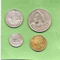 Piece De 1965  5 Centavos  +piece De 25 Ce1965 - 10 Ce 1965 + 1 Ce 1973 - Guatemala