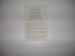 René Coulier (Lombardsijde 1889-Oostende 1967);Vansteeger  - Ere-Gemeentesekretaris - Images Religieuses