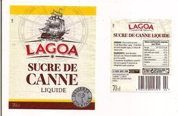 Etiquette Décollée Sucre De Canne - Lagoa - Thème Bateau - - Rhum