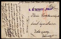 A6277) Austria Karte K.u.k.Marine SMS POLA 06.10.17 - Briefe U. Dokumente