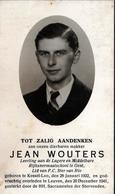 Faire-Part Original De Décès Avec Photo Du Jeune Hollandais Jean Wouters 1922-1941 - Décès