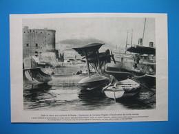 (1927) Dans Le Vieux Port Militaire De Naples : L'HYDRAVION De L'aviateur NOGUÈS à L'escale Parmi Les Autres Navires - Unclassified