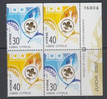Europa Cept 2007 Cyprus  2x2v From  Booklet  ** Mnh (44177) Scouting - 2007
