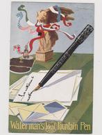 Penne Stilografiche Waterman's Fountain Pen Ideal, Pubblicitaria, Illustrata Da Cappadonia  - F.p. -  Anni '1910 - Advertising