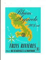 Etiquette   RHUM TROIS RIVIERES Agricole - 50° 70cl - Sainte Luce - MARTINIQUE - - Rhum
