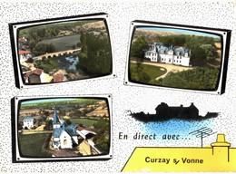 CPM* N°3321 - LOT DE 2 CARTES DE CURZAY-SUR-YONNE - Autres Communes