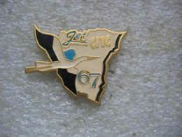 Pin's CFTC De La Compagnie Aérienne JET Alsace Du Bas-Rhin (67). Cigogne - Administrations