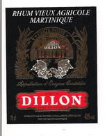 Etiquette   RHUM  Vieux Agricole DILLON - Carte Noire - 43° 70cl - MARTINIQUE - - Rhum