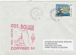 Mission CORYMBE 64 CDT BOUAN Cachet Toulon Castigneau Marine 5/7//2002 - Enveloppe 3 - Storia Postale