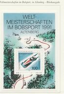PIA  -  GERMANIA   -  1991  : Campionati El Mondi Di Bob A Altemberg  -  (Yv Bf 22) - Inverno