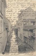 2. TROYES . LA RIVIERE AUX CAILLES . CARTE AFFR AU VERSO LE 19 AVRIL 1905 . 2 SCANES - Troyes
