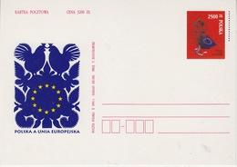 Poland 1994 Poland In The EU  Postal Stationery Postcard Unused (44181) - Europese Gedachte