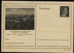 WW II Hitler GS Postkarte P 305 Mit Bild Reichsgau Danzig Neustadt: Ungebraucht. - Briefe U. Dokumente