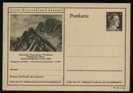 WW II Hitler GS Postkarte P 305 Mit Bild Zahnradbahn Brannenburg Wendelstein: Ungebraucht. - Briefe U. Dokumente