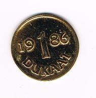 //  PENNING  1 DUKAAT 1986 - Toeristische