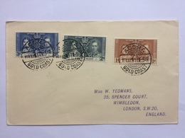 GOLD COAST 1937 Coronation FDC Accra To London - Goldküste (...-1957)