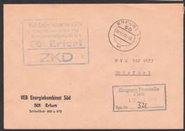 Erfurt ZKD-Brief Energiekombinat Süd  10.12.70, Ortsbrief An NVA (Nationale Volksarmee) PSF-Adresse - Service
