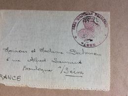 Carte Lettre (Tampon Base Militaire Française De Tarente - Italie) 1919 - Andere