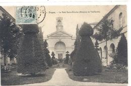 76. TROYES . LE PETIT SAINT-NICOLAS ( HOSPICE DE VIEILLARDS ) CARTE AFFR SUR RECTO - Troyes