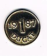 //  PENNING  1 DUCAT 1987 - Toeristische