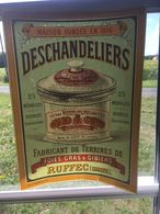 Publicité Pour Les Foies Foie Gras Maison Deschandeliers A Ruffec Charente Decalcomanie Transfert Transparent - Publicités