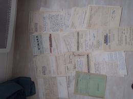 Lot De 100 Factures (500g) 1938-40 Commerces Bouches Et Autres, F-Comté, Paris, Alsace, Lorraine, R-Alpes, Des Multiples - 1900 – 1949
