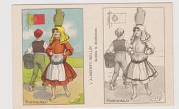 Alimento Mellin , Pubblicitaria, Cartolina Colorabile, Portogallo - F.p. -  Anni '1910 - Pubblicitari