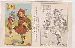 Alimento Mellin , Pubblicitaria, Cartolina Colorabile, Scozia - F.p. -  Anni '1910 - Pubblicitari