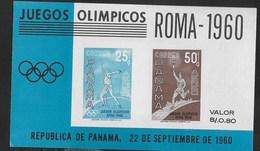 PANAMA - 1960 - GIOCHI OLIMPICI ESTIVI ROMA - FOGLIETTO NUOVO **NH (MICHEL BL 8) - Estate 1960: Roma