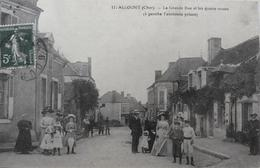 Allogny : La Grande Rue Et Les Quatre Routes - Autres Communes