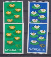 Sweden 1977 Norden 2x2v  Glänz. & Matte Gummierung ** Mnh (44185) - Europese Gedachte