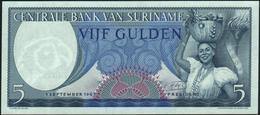 SURINAME - 5 Gulden 01.09.1963 {RADAR #CM033330} UNC P.120 B - Surinam