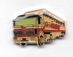 Pin's  Automobile, Camion  MERCEDES, Transports  GRISET - Mercedes