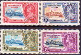 BRITISH SOLOMON ISLANDS 1935 SG #53-56 Compl.set Used CV £40 Silver Jubilee - Salomonseilanden (...-1978)