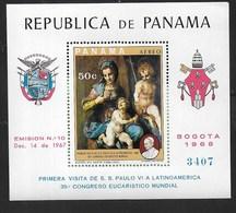 PANAMA - 1968 -ANDREA DEL SARTO  - FOGLIETTO NUOVO **NH (MICHEL BL 106) - Arte