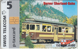 SUISSE - PHONE CARD - TAXCARD-PRIVÉE * CHIP *** TRAIN - ZUG - 150 ANS / 15 *** - Svizzera