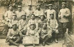 160819A - MILITARIA GUERRE - CARTE PHOTO Militaire Photo Prise Avant De Partir à L'attaque En Champagne Poilus 401 Nord - Guerre 1914-18