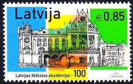 Latvia Lettland Lettonie 2019 (14) Latvian Academy Of Arts - 100 Years - Architecture - Latvia