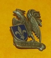 67° Bataillon D'Infanterie Portée, émail, Dos Guilloché Embouti,  FABRICANT DRAGO PARIS,HOMOLOGATION 551, ETAT VOIR PHOT - Armée De Terre