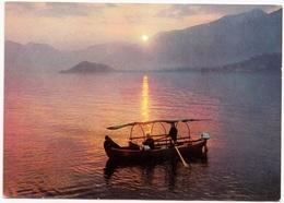 Tramonto Sul Lago Di Como, Sunset On Lake Of Como, Used Postcard [23402] - Como