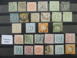 ALLEMAGNE ANCIENS ETATS Lot 28 Timbres THURN TAXIS HAMBURG WURTTEMBERG HAMBOURG TOUR GERMANY GERMAN STATES Stamps - Collezioni