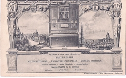 BRUSSEL, BRUXELLES, EXPOSITION 1910, LUDWIG HUPLELD, A.G. LEIZIG, CARTE ORIGINAL - Bruxelles-ville