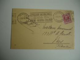 1914 Genova Ferrovia Esposizione Internationale  Igiene Marine Colonie - 1900-44 Vittorio Emanuele III